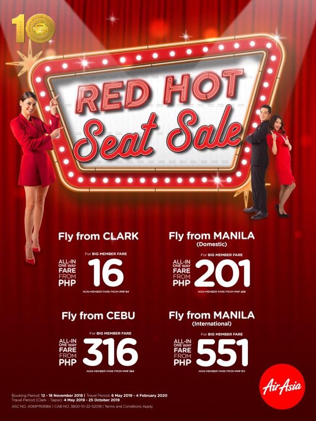 AirAsia Final Red Hot Seat Sale
