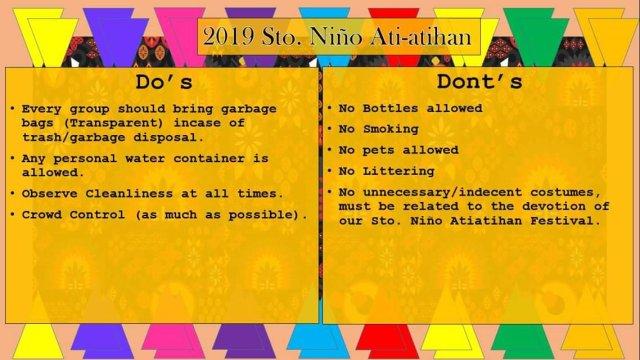 Boracay Ati-Atihan 2019 Do's and Dont's