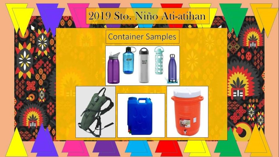 Boracay Ati-Atihan 2019 Allowed Container Samples