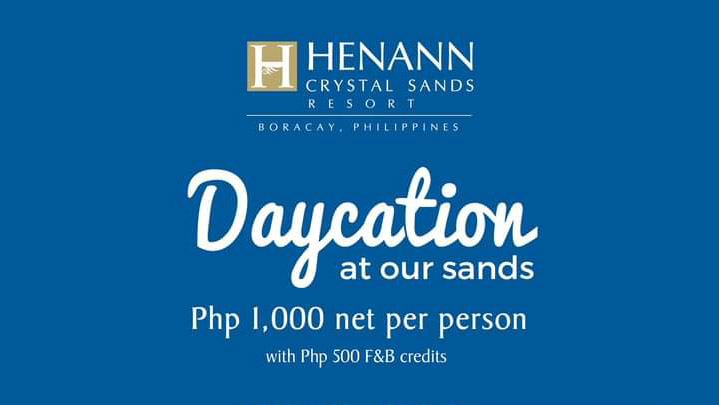 Enjoy Boracay for one day at Henann Crystal Sands