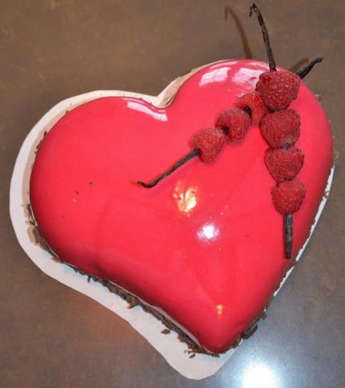 bavarois coeur rose_vue de dessus