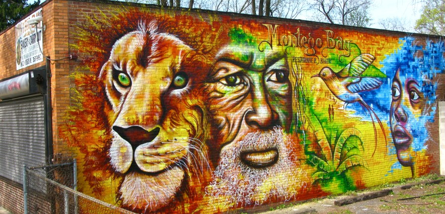 Baltimore 2012: Painted on the outside wall of Montego Bay Jamaican Restaurant