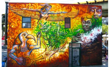 "Brooklyn, NY 2012: ""A New Ma'at"" deals with the Arab Spring using ancient iconography."