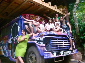 The Paz Paz Bus! In the jungle of Jalisco.