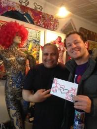 Angel Ortiz in his studio