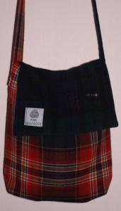 upcycled tartan bag
