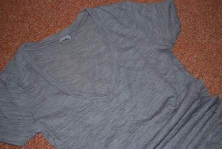 grey wool tee shirt