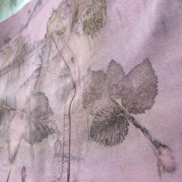 silk blouse eco print 3