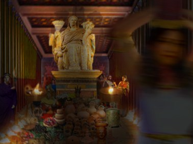 Temple Interior Offerings