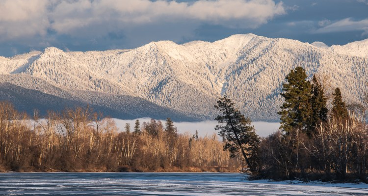 Flathead River and Swan Mountains, Winter 2014