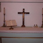 Crucifix on the altar