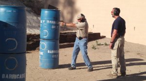 Joel teaching a pistol skill builder