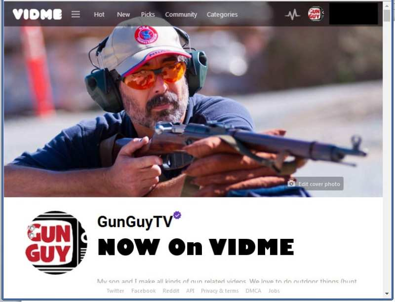 GunGuyTV on VIDME