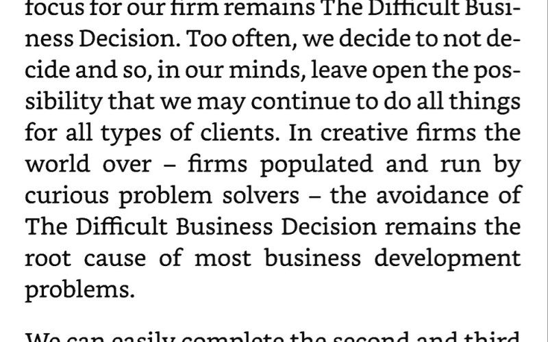 The Difficult Business Decision