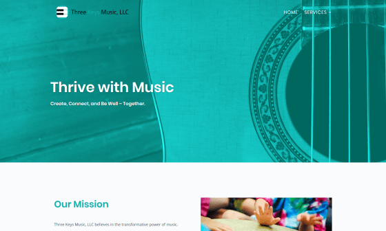 Three Keys Music homepage