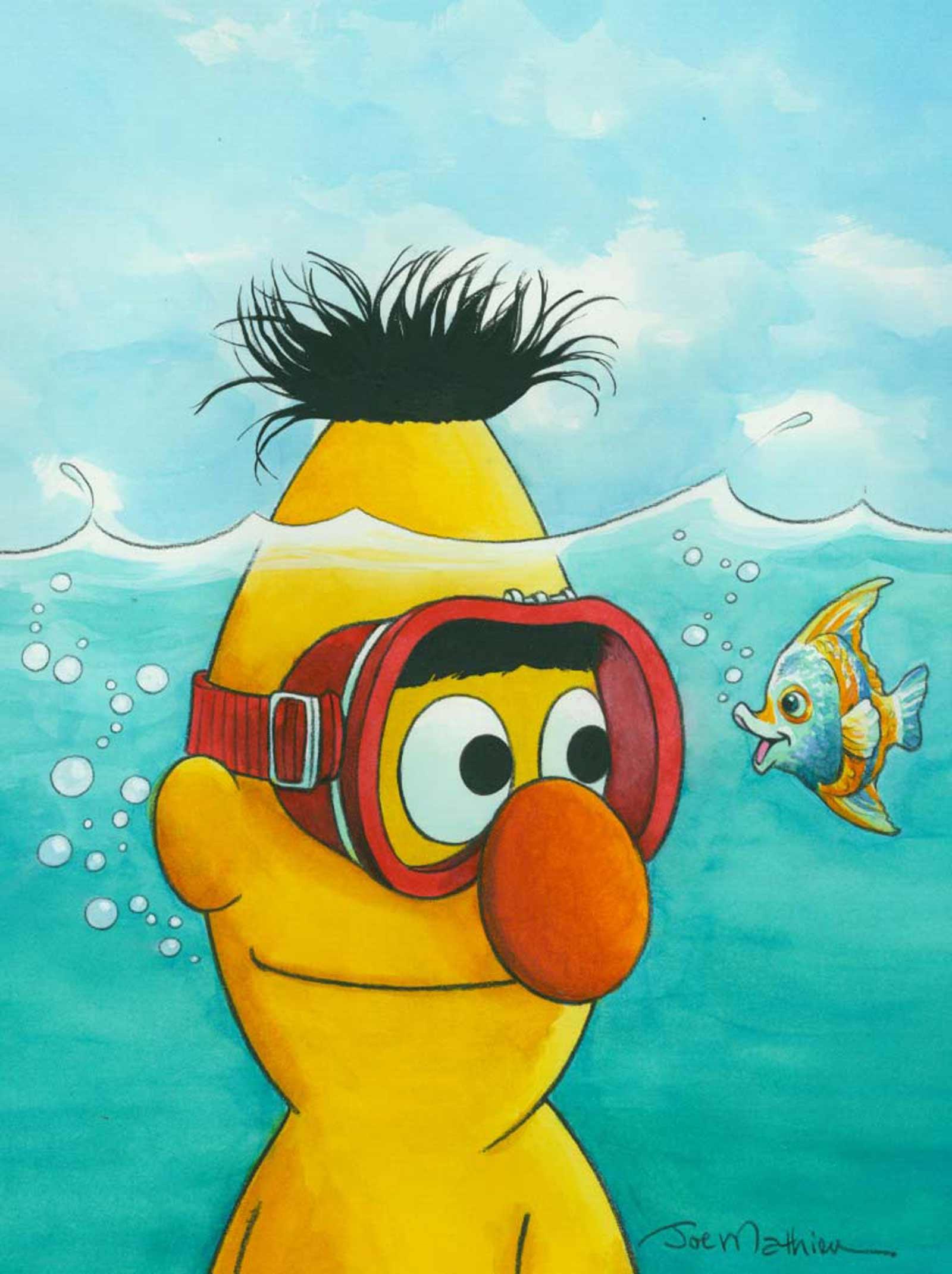 Bert Under Water