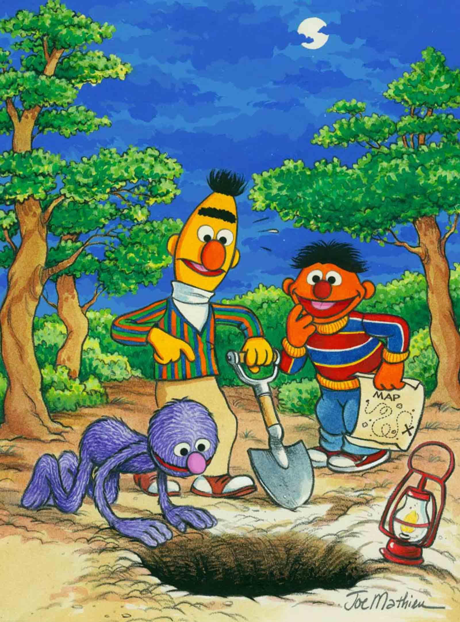 Ernie Bert Grover Treasure Hunt