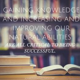 Skillful People Are Successful People Joe Mcgee Ministries