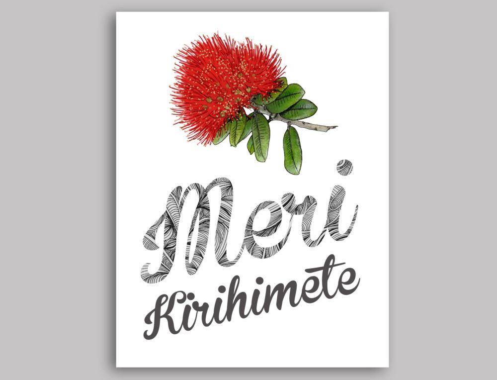 Meri Kirihimete Greeting Card