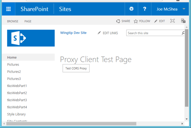 Proxy Client Test Page