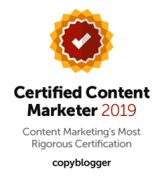 Joe Nattress Copyblogger Certified Content Marketer 2019