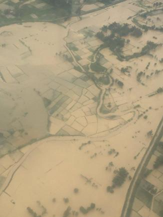 aerial view of Janakpur's summer monsoon flood, August 2016. From Republika.