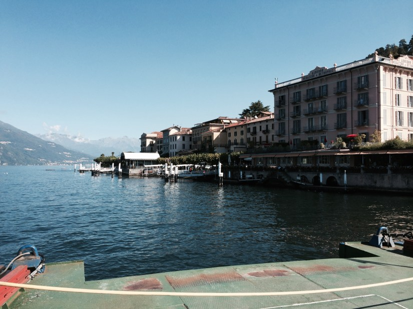on the ferry to Varenna