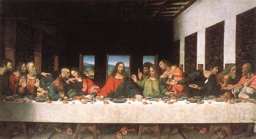 Last supper by Leonardo de Vinci