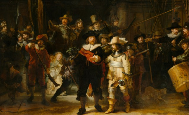 Night watch by Rembrandt