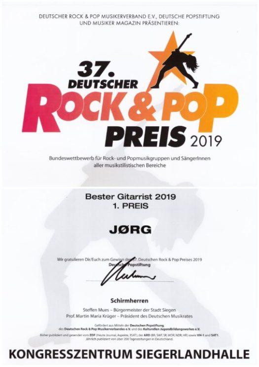 37. Deutscher Rock- und Pop-Preis 2019 - Bester Gitarrist