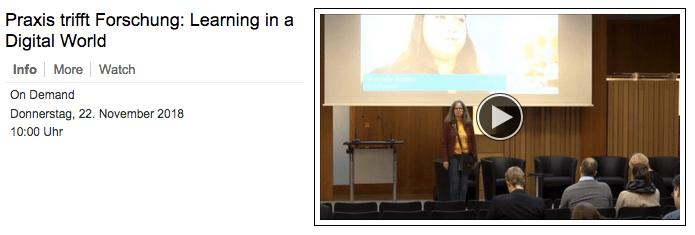 Learning in Digital World – und in einer neuen Hochschule