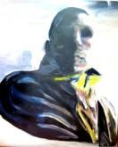 im Zug, 50 x 40 cm, Acryl auf Leinwand, 2014