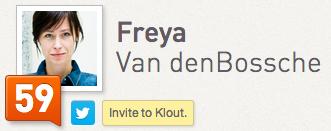 Freya Van den Bossche Klout