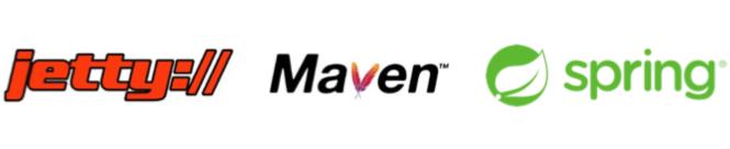 Logo jetty, maven, spring framework