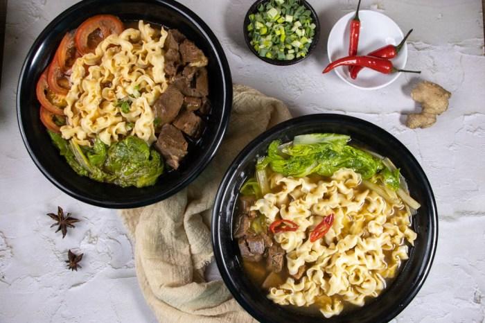 宅配美食,在家也能輕鬆煮碗牛肉麵,愛煮廚名廚系列-牛肉麵 (紅燒/番茄)。