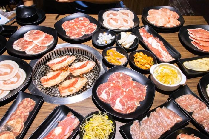 台中沙鹿,位子寬敞食材送餐速度快,吃肉吃飽飽的炭火燒肉工房。