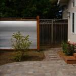 Backyard Landscaping Corrugated Metal And Redwood Tool Wall Joe S Happy Hour