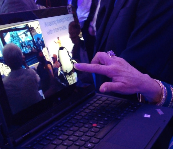 At the booth, the Leviathan spawned glowing baby huxleys. Users could play with the huxleys using touch interactions on tablets.