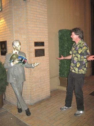 Bill Wendel (r) confronts a cool kid