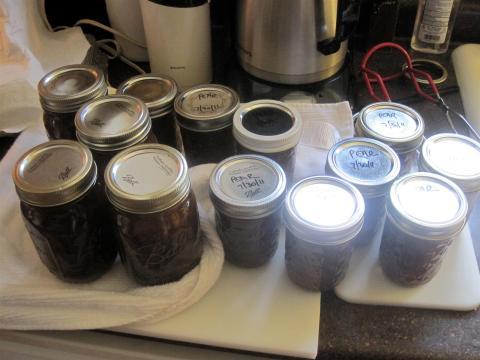 filled jars
