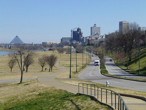 Memphis Skyline, River Walk and Riverside Drive by joespake