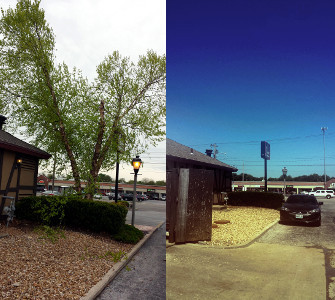 Jims steakhouse before and after