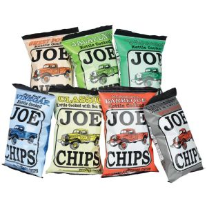 sea salt chips barbeque chips vinegar chips sour cream and onion chips sweet potato chips jalapeno chips slat and pepper chips bacon and cheddar chips3