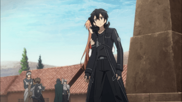 Asuna: Episode 8; cowering because a big meanie is coming to take her away
