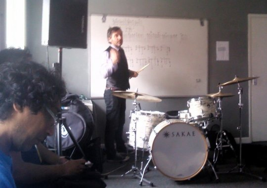 Session Drummer Ash Soan Teaching The Oakland Stroke @ UDE 2013
