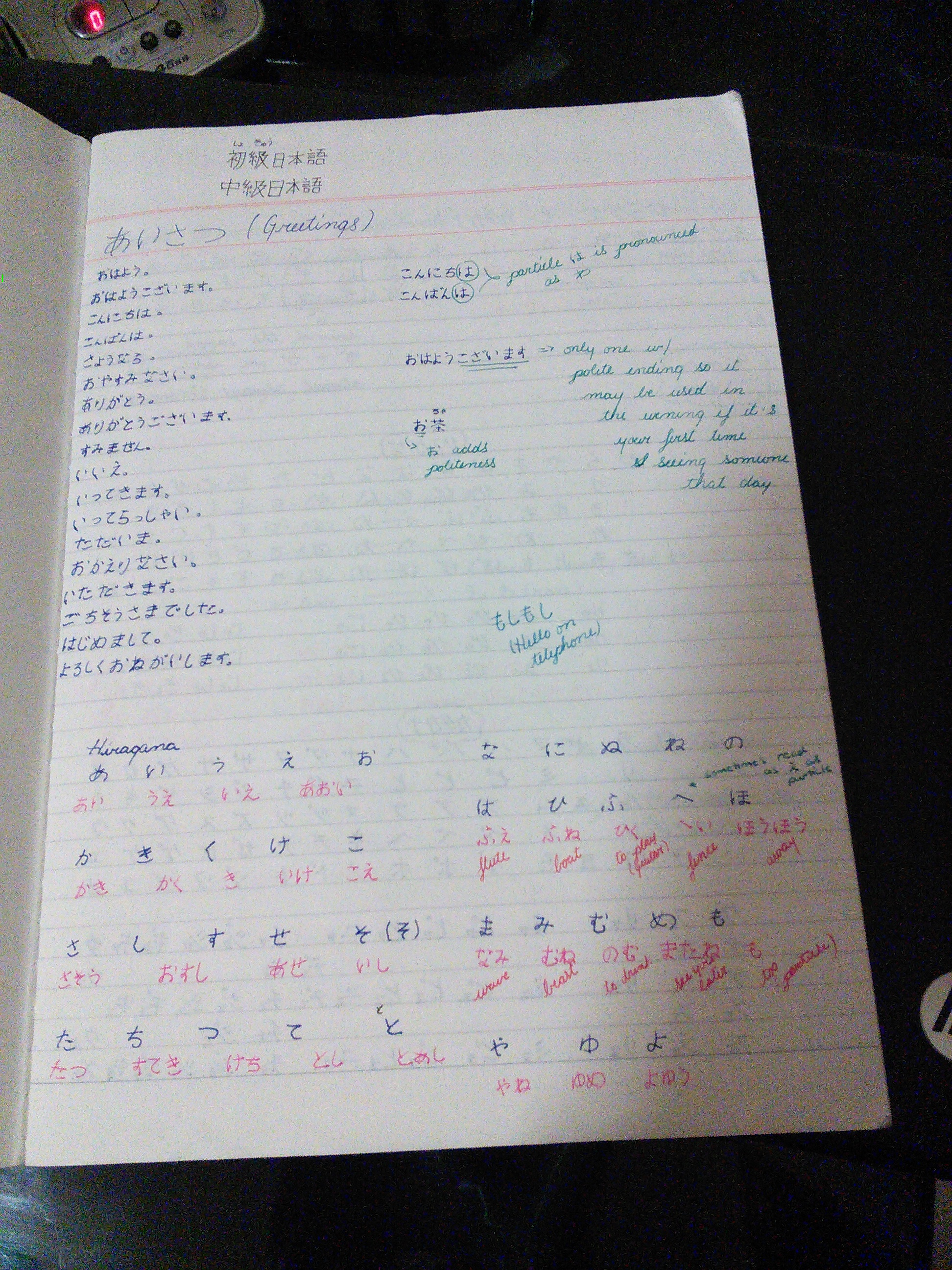 First Japanese Notebook Complete Joeunjinsei