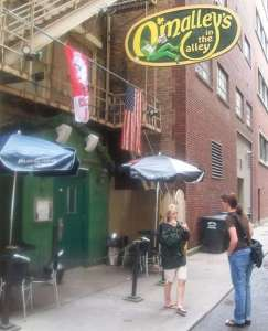 Photo of the outside of O'Malley's in the Alley - downtown