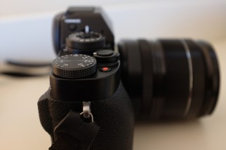 Fuji X-T1 EV Dial and Record Button