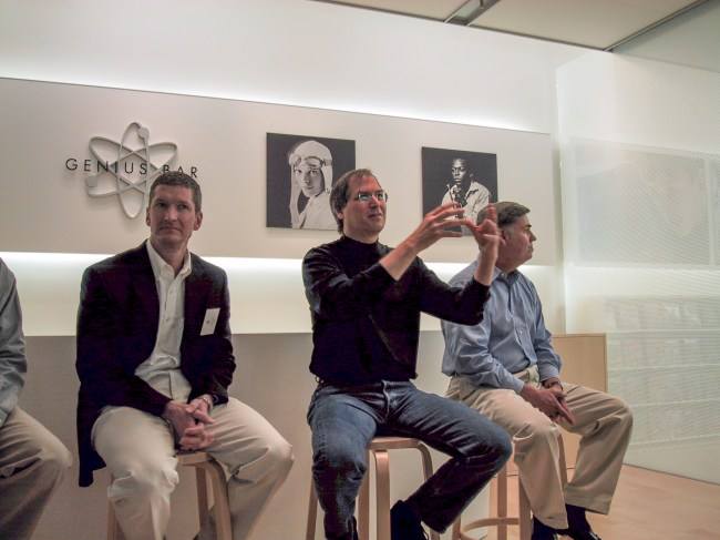 Tim Cook, Steve Jobs, and Fred Anderson