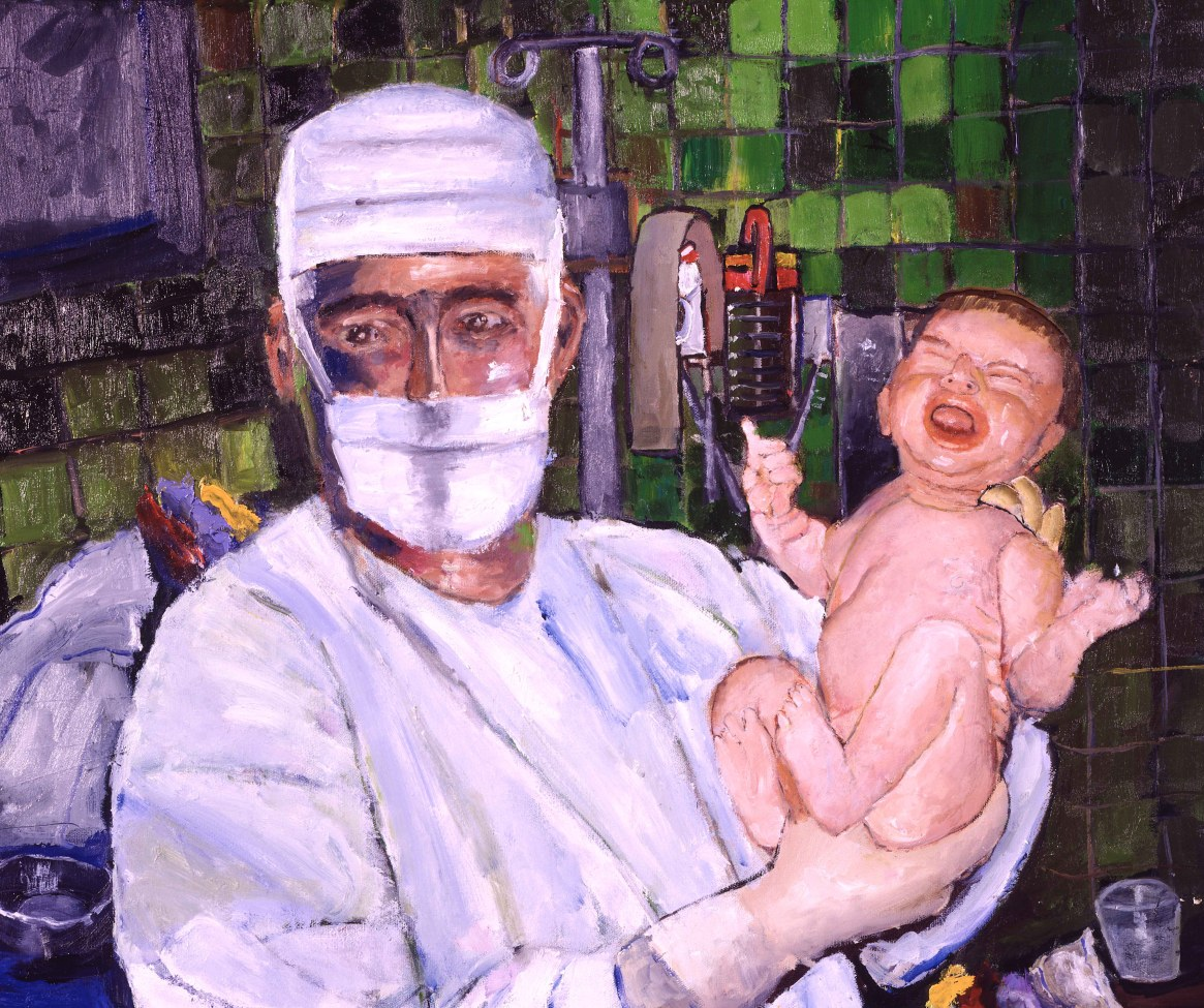 Obstetrician Holding New Born